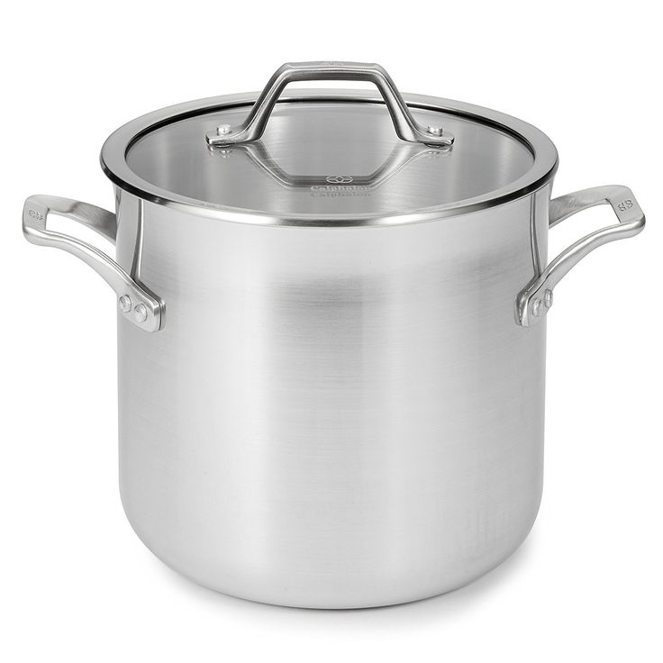 Calphalon 1833953 accucore stainless steel stock pot with