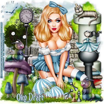 """MI RINCÓN GÓTICO: CT for Kizzed by Kelz & Oky Draft Art, """"Sexy Alice 3"""""""