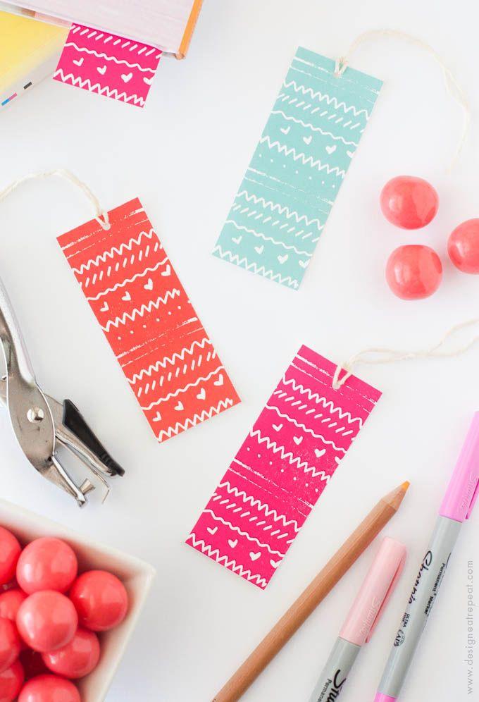 DIY Patterned Bookmarks