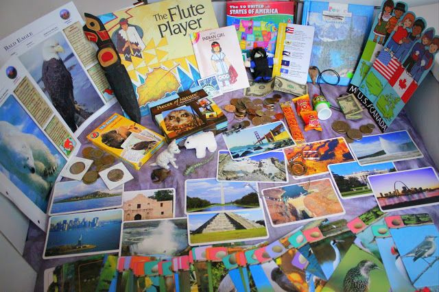 """Like A Bird: Continent Boxes-- she shares what she has for each continent. Also includes an """"ocean"""" box, which I think is a fantastic idea."""