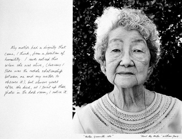 About My Mother, William Yang