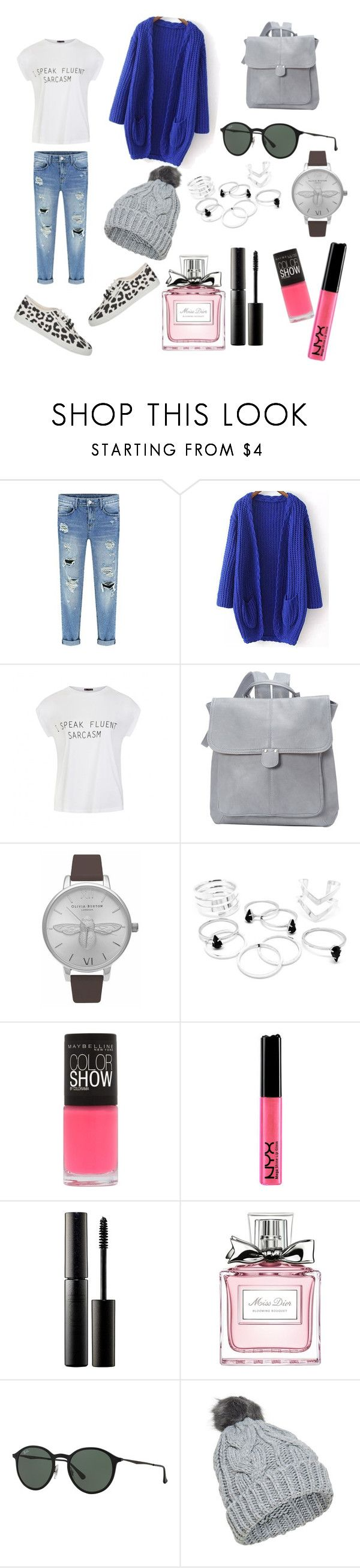 startas by jett-co on Polyvore featuring WithChic, Ally Fashion, Le Donne, Ray-Ban, Surratt, Christian Dior, Maybelline, Startas, women's clothing and women's fashion