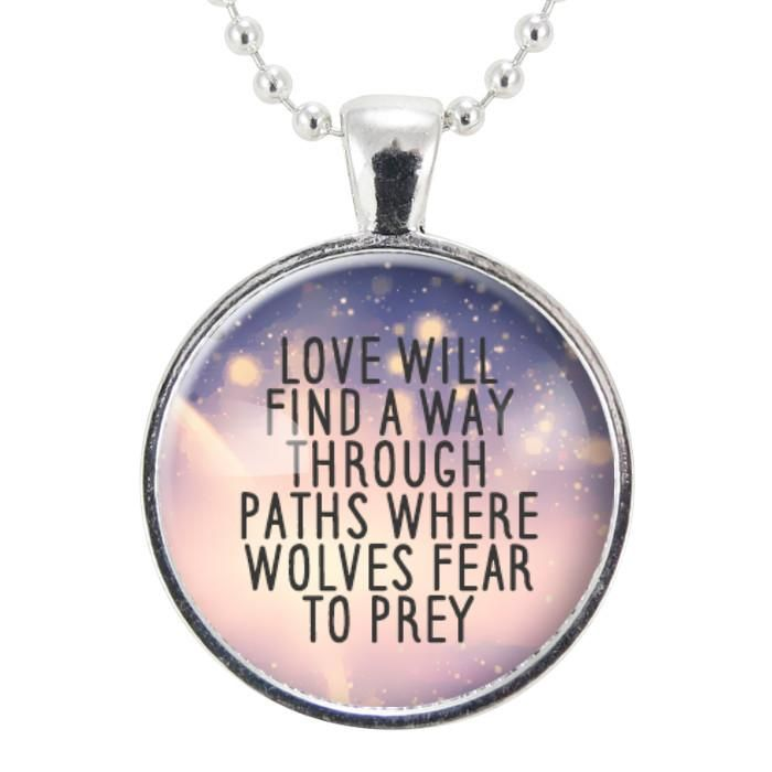 Love Quote Necklace, Romantic Gift Ideas For Her, Inspirational Words