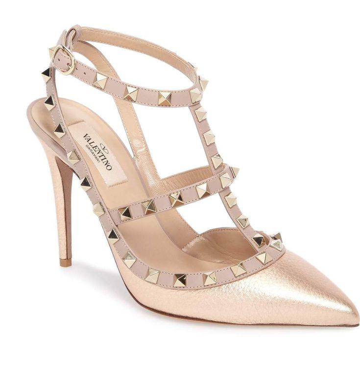 ROCKSTUD T-STRAP PUMP Valentino Bridal Shoes: Vows in Rockstud Style https://www.loveandlavender.com/2018/01/valentino-bridal-shoes/