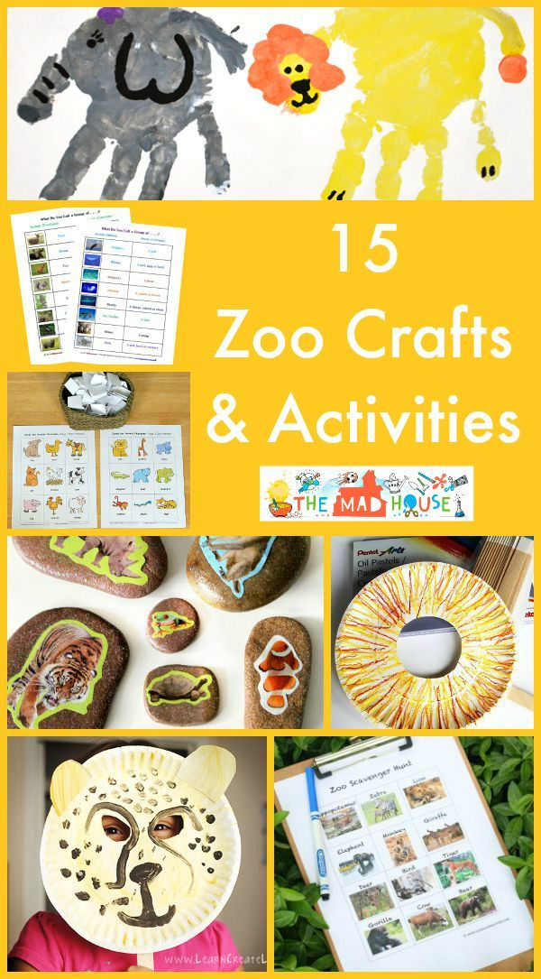 15 zoo crafts and activities. Extend the adventure of visiting the zoo with these 15 fabulous zoo crafts and activities for kids of all ages
