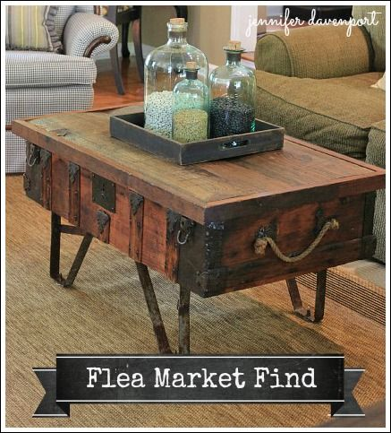 """Awesome coffee table. Gives off that """"old book smell"""" vibe, too. I like the repurposed/recycled/upcycled look. Save the planet! #decorbyme @ForRent.com"""