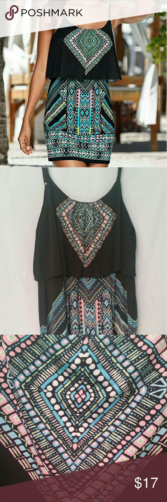 Venus mini printed dress Worn once...very cute...fun tribal print dress venus Dresses Mini