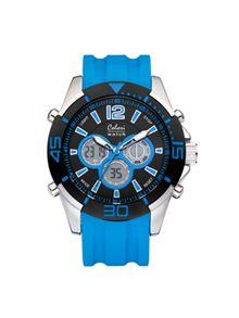 Chrome Blue LCD Men Watch 5-CLD013