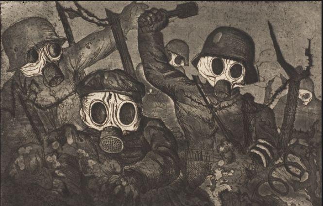 otto dix | Otto Dix ( 1891-1969). Truppe d'assalto con maschere antigas(1924)