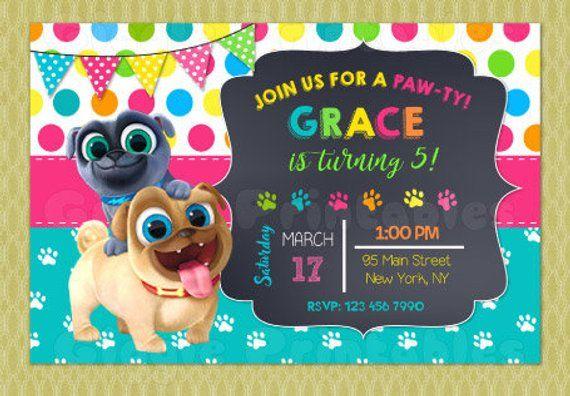 Puppy Dog Pals Invitation Puppy Dog Pals Birthday Party