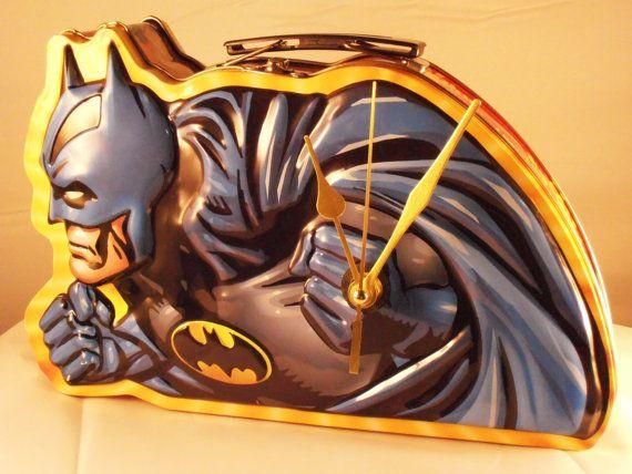 Batman Lunch Box Clock by SandDolls on Etsy