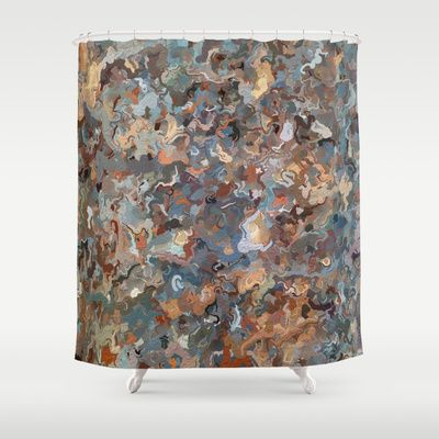 Lacebark Elm Tree Graphic Art #3508 Shower Curtain by Khoncepts - $68.00  #beigeandblue #homedecor