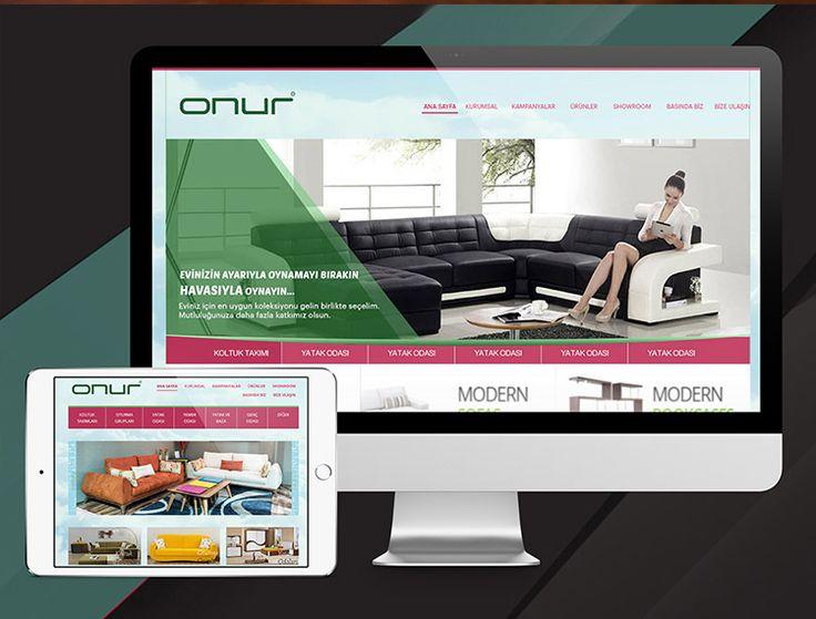 Mersin Onur Mobilya kurumsal mobil uyumlu yönetim panelli web site tasarımı