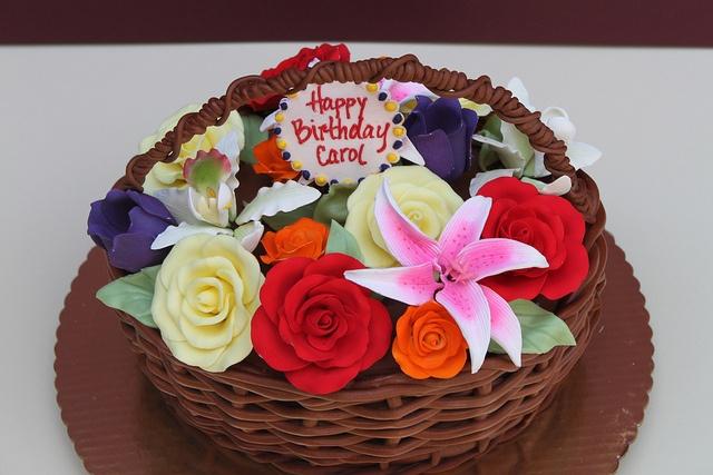 Basket of Flowers by Alliance Bakery, via Flickr