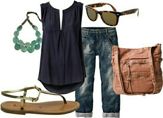 Navy with turquoise and cognac