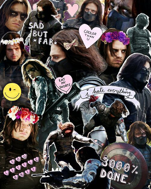 #BUCKY #WINTERSOLDIER winter soldier tumblr collage yes