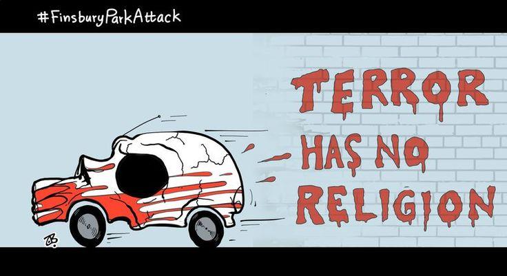 Terror has no religion. Cartoon by Emad Hajjaj: https://www.cartoonmovement.com/cartoon/40842