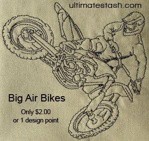 Dirt bike embroidery designs