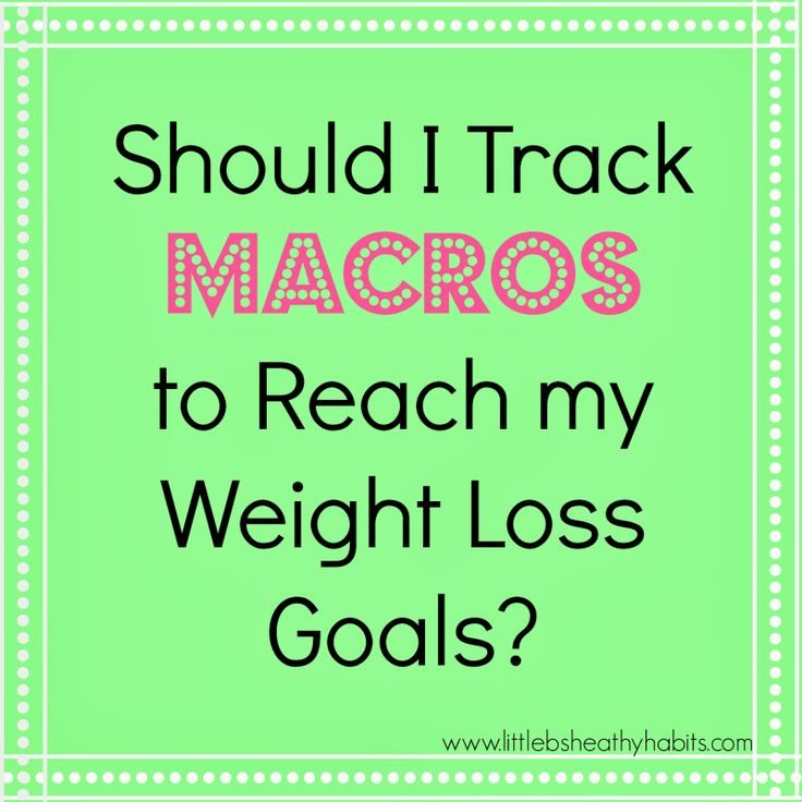 how to eat macros for weight loss