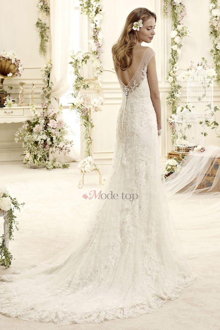 78 Best Ideen zu Hochzeitskleid Rückenfrei Spitze auf Pinterest ...