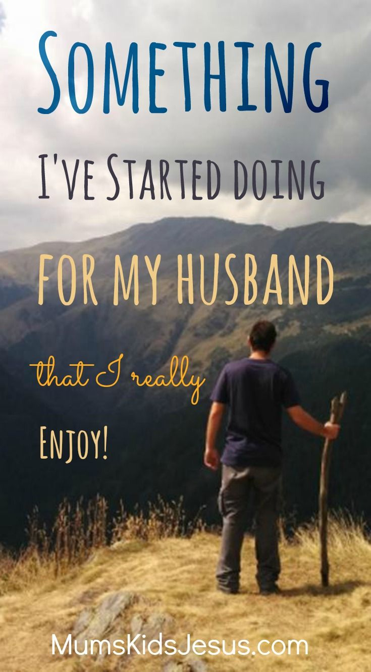 Yep! I've started doing something for my husband everyday. And I'm really enjoying it (kind of surprisingly). Click to read more, and get a FREE e-course to help you start doing it too!