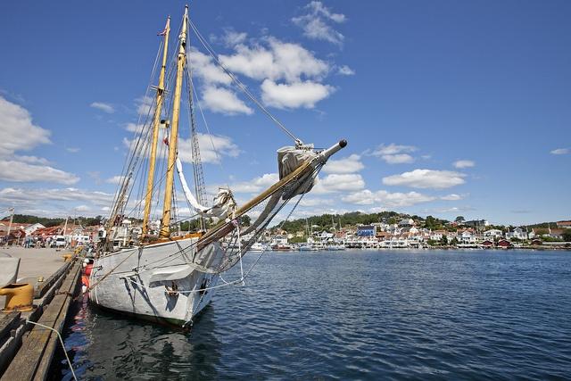 Grimstad harbor, Norway
