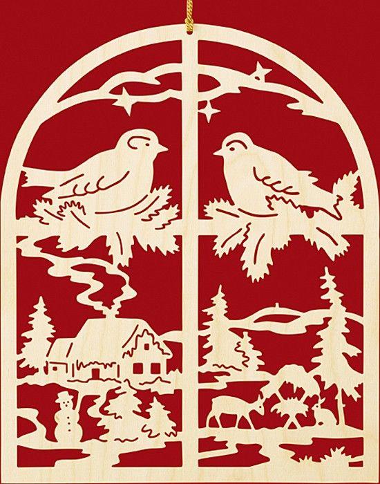 Taulin Fensterbild Weihnachten Winterabend am Fenster