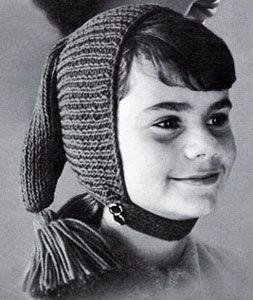 Chin Strap Cap knit pattern from High Fashion Hats, originally published by Bernhard Ulmann, Volume 62, in 1961.