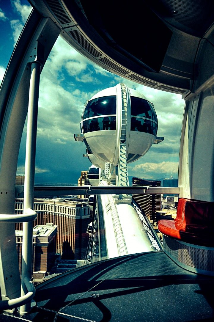 A view from the top: an inside look at one of the High Roller pods.