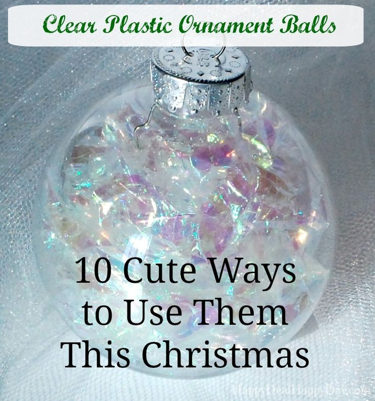 "I have gotten many empty clear plastic ornament balls either from Christmas Clearance sales, or at places like Oriental Trading. Here are some options over on Amazon: Creative Hobbies® 83 mm (3-1/4"") Round Clear Plastic Ball Ornaments -Great for Crafting- Pack of 12Price: $23.88Naice Christmas Ball Ornament DIY Clear Plastic Fillable Ball 70mm - Pack of […]"