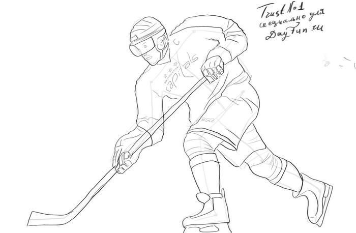 Hockey Players Drawing Hockey In 2020 Hockey Drawing Hockey Players Drawings