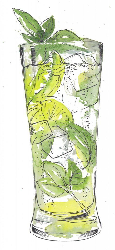 Margarita cocktail watercolour illustration. I love painting cocktails as watercolour and pen and ink works so well creating the glass and liquid. Commission your very own artwork by clicking the link.