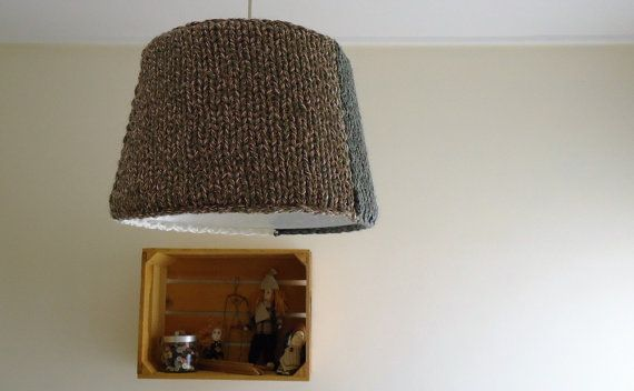 Knitted Pendant Light Knitted Chandelier Handmade by YellowByZoe