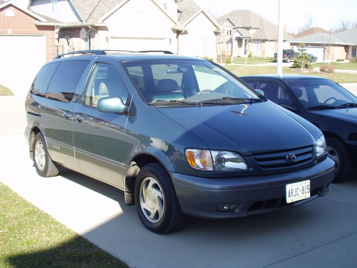 2001 Toyota Sienna: Undoubtedly the least cool *confesses- can't bring myself to post the awful Dodge Caravan* of my cars. At the time, it was hard to fit three car seats in anything else.