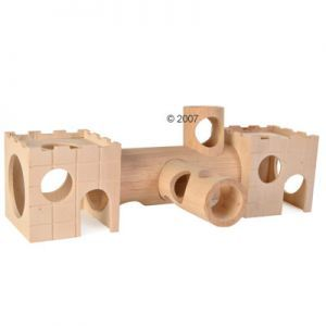 hamster wood castle tunnel system
