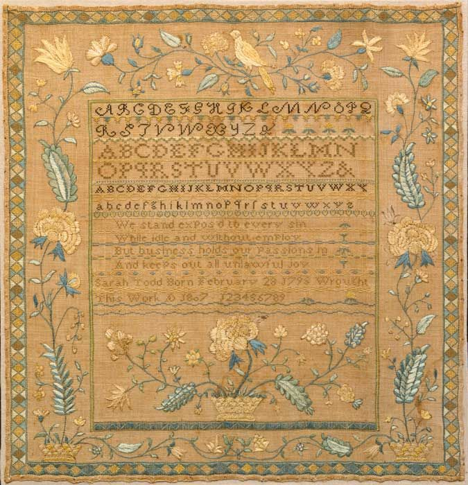 Sampler, 1807. I love being part of the needle arts tradition! Beautiful piece...