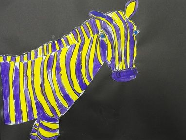 This Zebra Of Purple And Yellow Demonstrates The Idea Complementary Colors In Way That Are Opposites On Color Wheel When