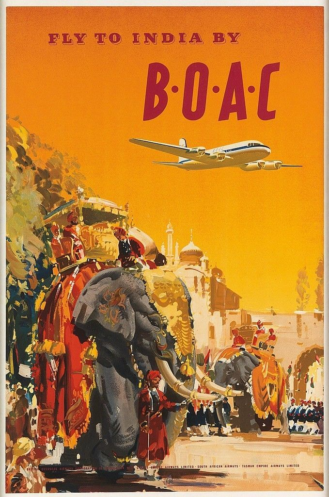 FLY TO INDIA BY BOAC / ca. 1950s