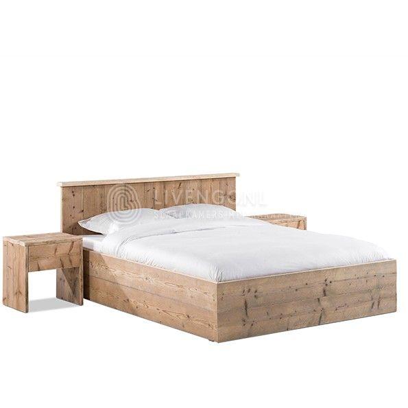 Steigerhouten ledikant 'Modern' | scaffold wood bed 'Modern' | http://www.livengo.nl/steigerhouten-bed/steigerhouten-volwassen-persoonsbedden/steigerhouten-bed-modern | #bedombouw #steigerhout #modern #slaapkamer #livengo