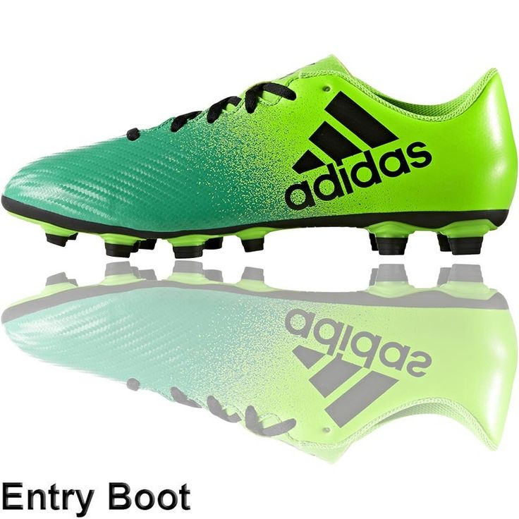 adidas x16.4 boots (fxg solar green core green) football boots and soccer cleats