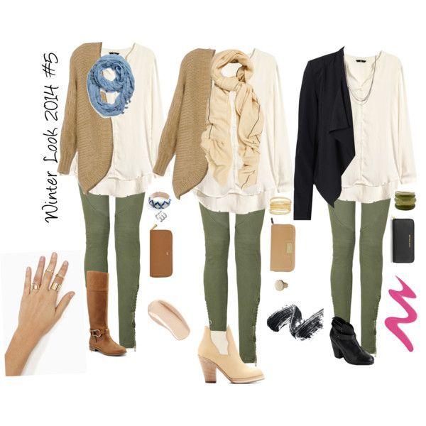 Winter Look 2014 #5 Olive green pants/leggings