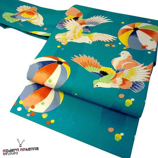 名古屋帯<鳩と紙風船>