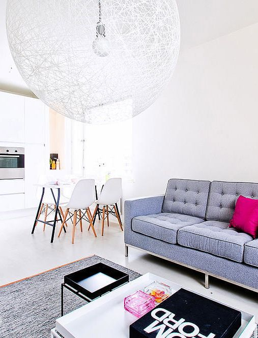 Light and bright with coloured accents