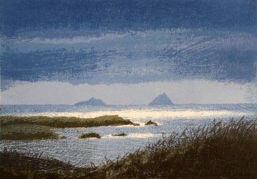 Aidan Flanagan: Skellig View, screenprint,  €400