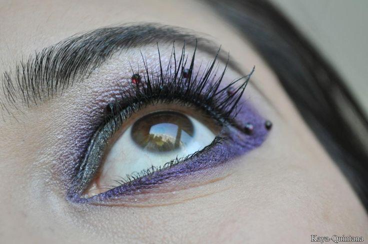 paarse eyeliner