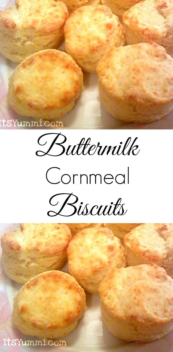 Buttermilk Cornmeal Biscuits - Warm, fluffy biscuits with a cornmeal and buttermilk base make them the perfect choice for breakfast sandwiches, biscuits and gravy, or a snack with honey butter spread on top! Get the recipe from itsyummi.com