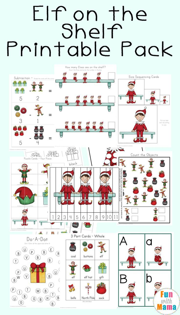 Elf on the shelf printables and ideas for kids, toddlers, preschoolers in the classroom, homeschool and just for fun. #elfontheshelf  #christmas #freeprintables