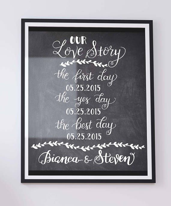 Custom OUR LOVE STORY sign  Printable wedding engagement