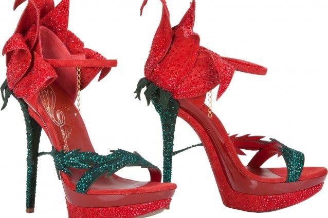 Sono rose rosse o scarpe gioiello?