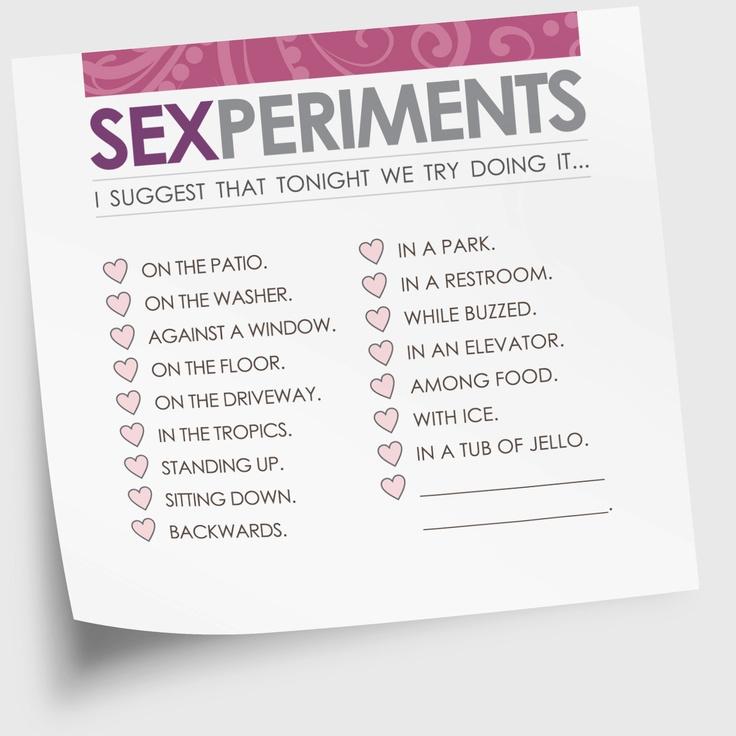 Naughty and nasty sex ideas